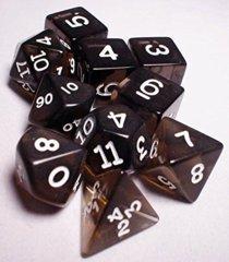 Koplow - Transparent Polyhedral - Smoke and White 10 Set