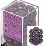 Chessex 25737 Dice d6 Set: Golden Cobalt - 16mm Six Sided Die (12) Block of Dice