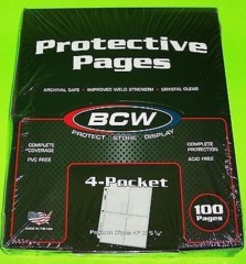 BCW - 4 Pocket Pages Box (100 pages)