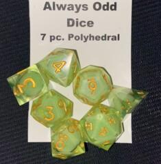 Always Odd Dice - 7pc. Polyhedral - Green Algae