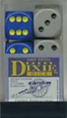 Chessex 25701 Dice d6 Set: Dixie Dice - 16mm Six Sided Die (12) Block of Dice