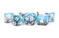Particle Blue And Black 16mm Resin Poly Dice Set