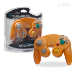 Wii/ GameCube Wired Controller (Orange) - CirKa