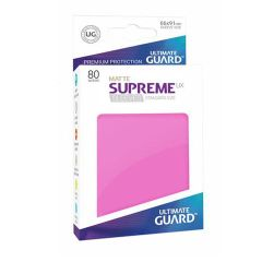 Ultimate Guard - Standard - 80ct - Supreme UX Sleeves - Matte - Pink