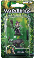 Wardlings - Wave 3 - Painted Minis - Girl Witch & Witch's Cat