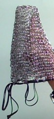 Kittensoft Chainmail Large Dice Bag With Leather String (LR/LC-S) Steel with Black Leather String