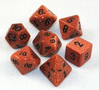 Red Goldstone - 14mm - 7pc.