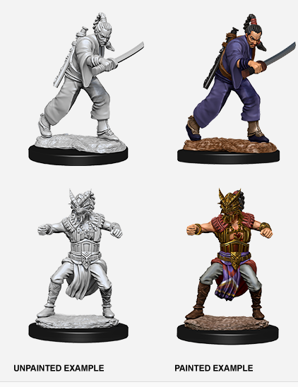 D&D Unpainted Minis - Wave 8 - Male Human Monk - Minature
