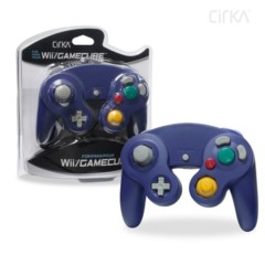 Wii/ GameCube Wired Controller (Purple) - CirKa
