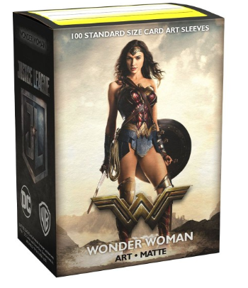 Dragon Shield - Standard - 100ct - Art Matte - Justice League Wonder Woman