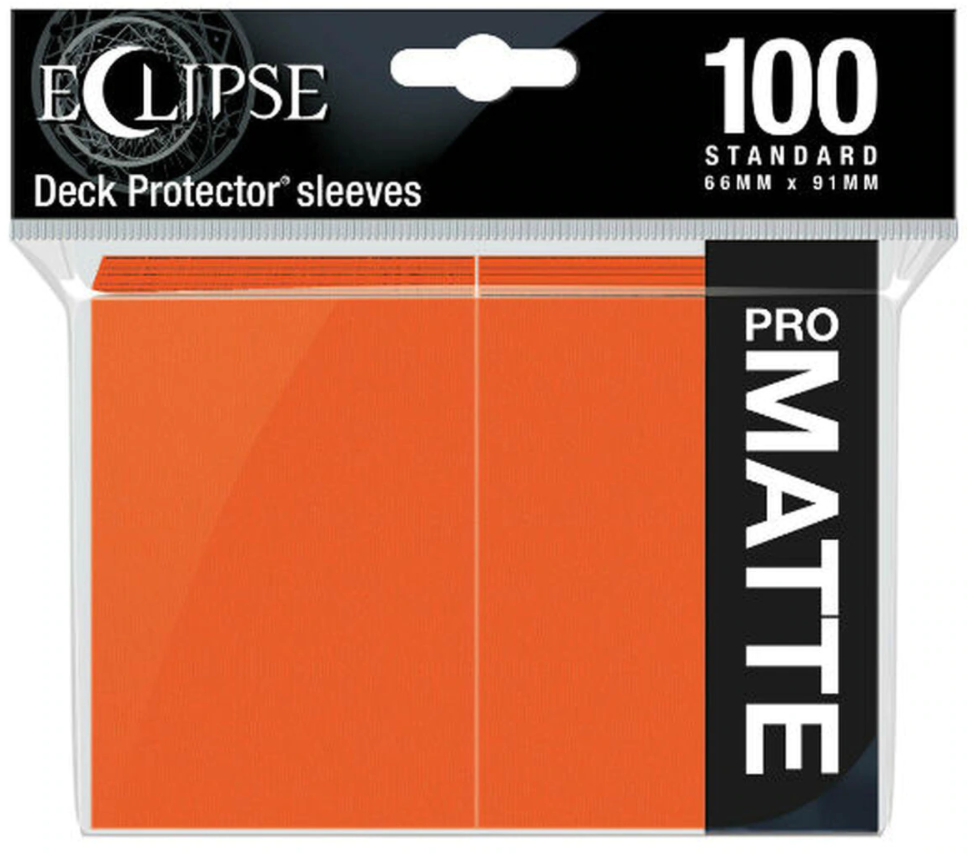Ultra Pro - Standard Deck Protectors: Eclipse Pro-Gloss Pumpkin Orange 100 ct