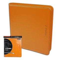 BCW Z-Folio LX - Orange with Black Stitch (20/12 Pocket Double Pages)