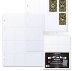 BCW - 16 Pocket Pages - 20 Pack Clear