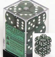 Chessex 25725 Dice d6 Set: Recon - 16mm Six Sided Die (12) Block of Dice