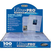 Ultra Pro 9 Pocket Pages Box of 100