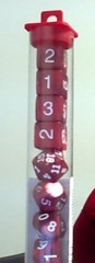 Koplow - Pearl Polyhedral - Red and White 10 Dice Set