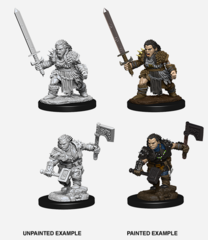 Pathfinder Unpainted Minis - Wave 8 - Female Dwarf Barbarian