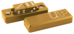 Gravity Dice D6 Gold