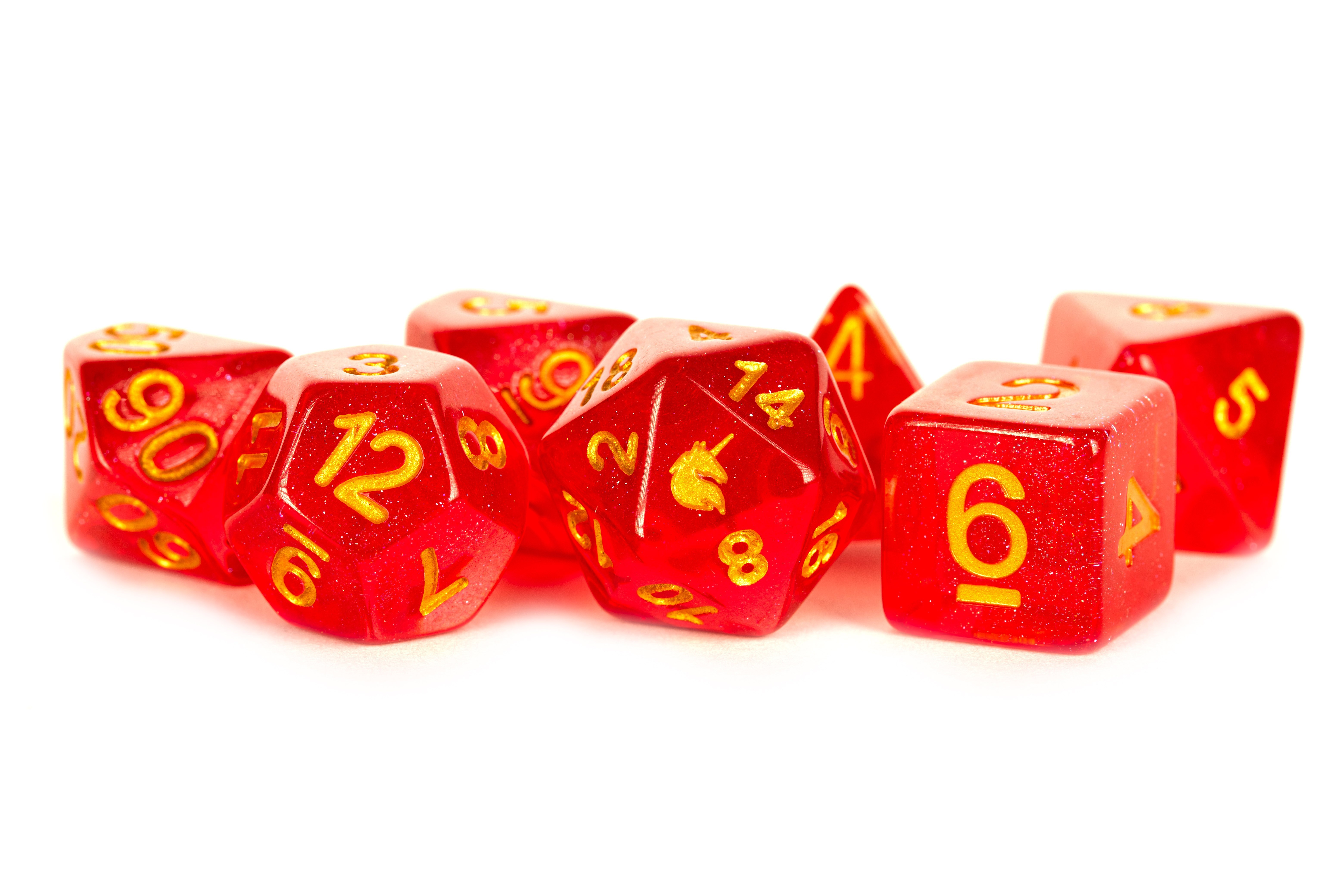 Red 16mm Poly Dice Set