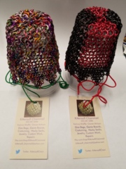 Kittensoft Chainmail Large Dice Bag With String (SR/LC-C) Confetti or Gold