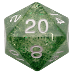 Ethereal Green 35mm Mega Acrylic d20 Dice