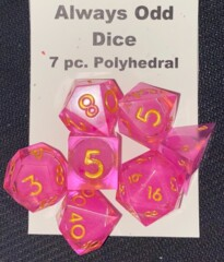 Always Odd Dice - 7pc. Polyhedral - Pink Sunrise