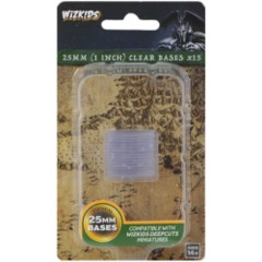 25mm Round Base - Clear (15)