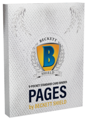 Beckett Shield 9-Pocket Pages - 100 Pack Clear