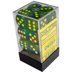 Chessex 27765 Borealis Maple Green/yellow - 16mm d6 Dice block