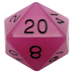 Glow in the Dark Purple 35mm Mega Acrylic d20 Dice