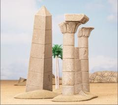 (BB907) Battlefield in a Box: Forgotten City Obelisk and Pillars