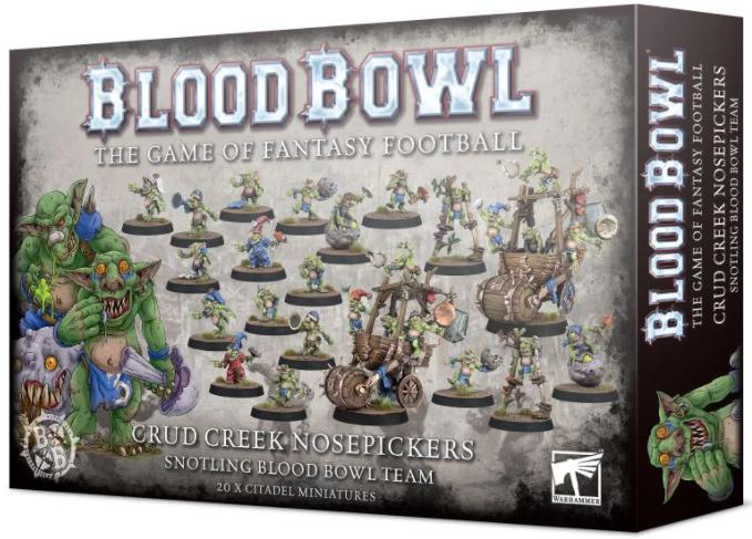 Blood Bowl - Crud Creek Nosepickers - Snotling Blood Bowl Team
