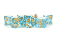 Blue Foil 16mm Resin Poly Dice Set
