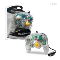 Wii/ GameCube Wired Controller (Clear) - CirKa
