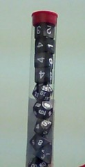 Koplow - Pearl Polyhedral - Charcoal and White 10 Dice Set