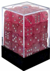 CHX 27924 Ghostly Glow Pink/Silver 12mm d6 Dice Block (36 dice)
