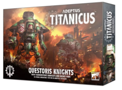 Adeptus Titanicus: Questoris Knights with Thunderstrike Gauntlets and Rocket Pods