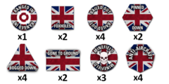 Team Yankee British Token Set (TTK04)
