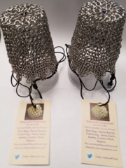 Kittensoft Chainmail Large Dice Bag With String (SR/LC-A) Bright Aluminum