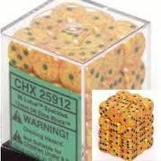 Chessex 25912 Dice d6 Set: Lotus Speckled - 12mm Six Sided Die (36) Block of Dice