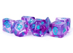 16mm Resin Poly Dice Set Unicorn: Violet Infusion