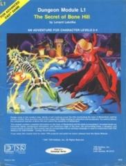 ADV. D&D Dungeon Module L1 The Secret of Blue Hill - Light Play
