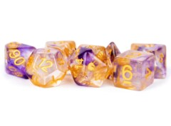 16mm Resin Poly Dice Set Unicorn: Royal Sunset