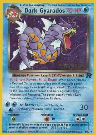 Dark Gyarados - 8/82 - Team Rocket Prerelease Holo Promo