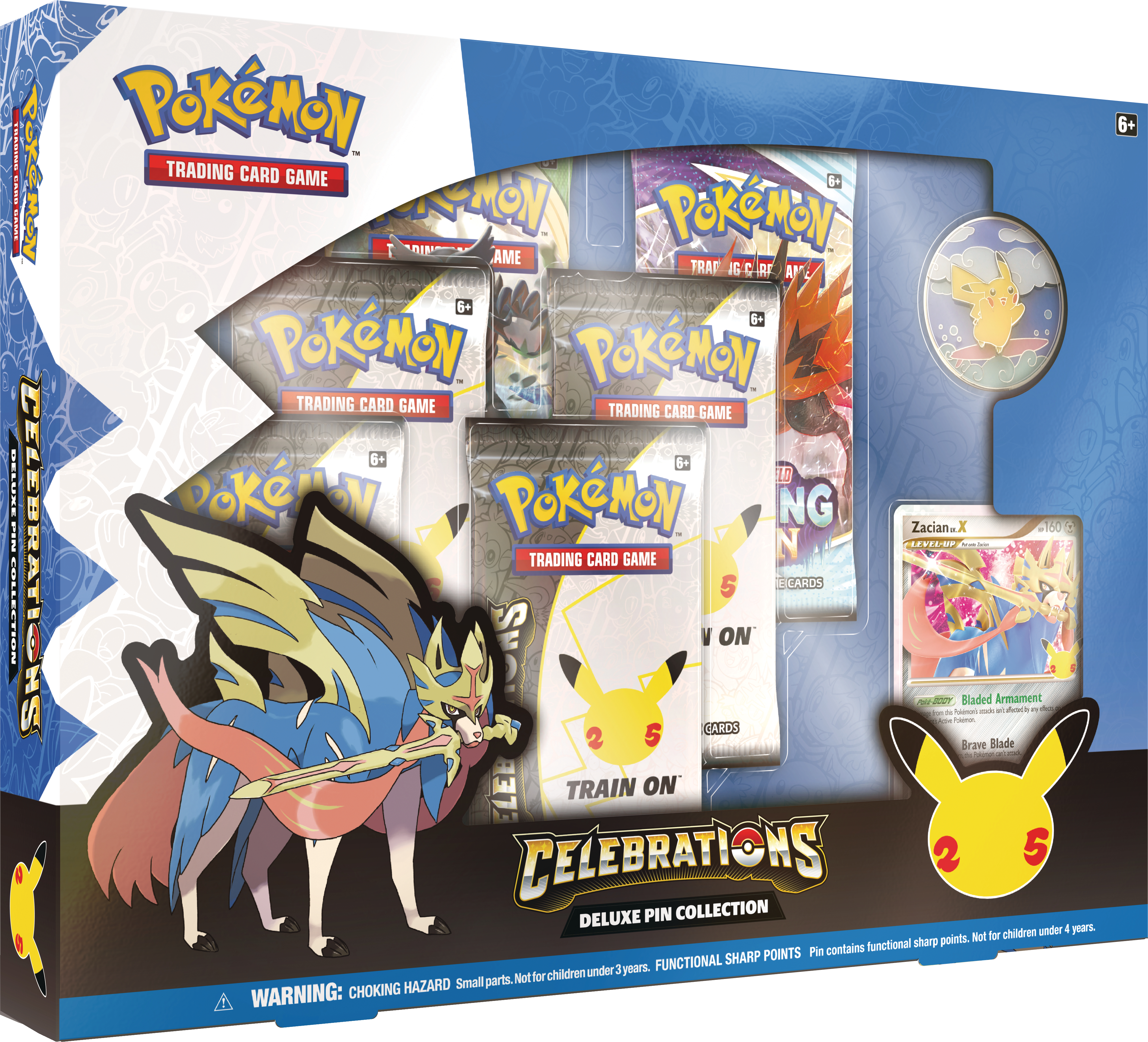 Celebrations Deluxe Pin Collection Zacian LV. X