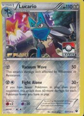Lucario - 63/124 - 1st Place League Challenge Promo