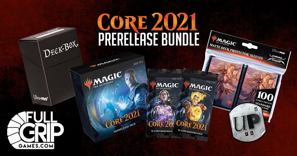 Core Set 2021 Prerelease at Home Bundle (2 Bonus Packs, Deck Box, Sleeves & Lifetracker)