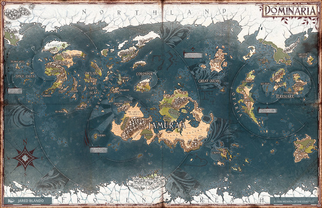 Ultra Pro Magic The Gathering Dominaria Map Playmat Up86755