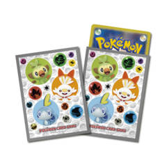 Pokemon Center 2019 Sword and Shield – Grookey, Scorbunny & Sobble – Card Sleeves 64ct