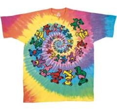 Grateful Dead Spiral Bears Tie Dye